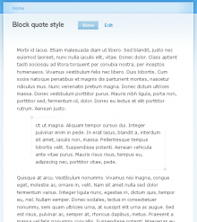 How your blockquote will look using the Garland theme