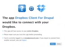 Dropbox Drupal Client