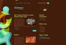 Abstract theme screenshot