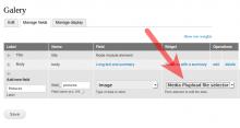 Select plupload widget