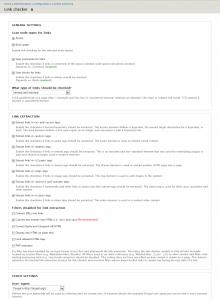 Link checker configuration UI