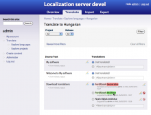 Localization Server with the Curie theme