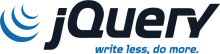 jQuery logo: Write less, do more.