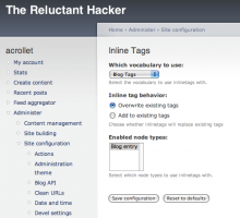 Administration interface screenshot