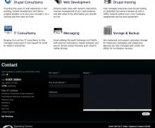 Webform embedded in footer of website