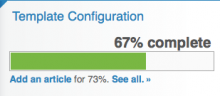 Usage of the complete module to track the completion of a website