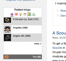 Scoutle stage in a Drupal site