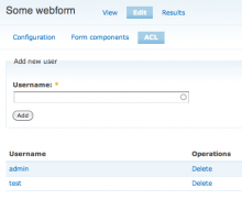Webform Submissions ACL form to grant users access to a webform
