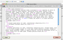 Screenshot of source editor