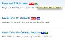 Translation Links screenshot; Teasers