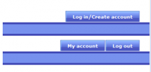Example account menu