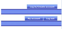 Example account menu