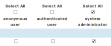 The checkboxes in action