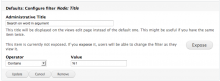 Use argument inputs in your filter settings.