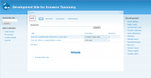 Users may browse questions by taxonomy term
