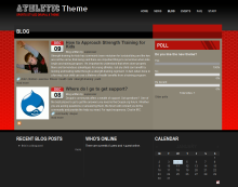 Screen Shot of default Athletic Theme