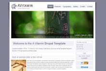 Drupal template - A Vitamin