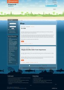 Beach Theme Full Page