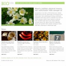 Biolife theme home page