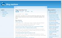Blog reactions