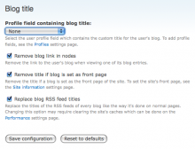 """Blog title"" settings page screenshot"