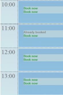 Booking Time Slots 6.x