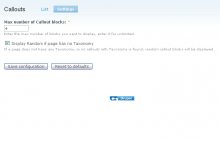 callouts admin settings window