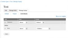 CCK Blocks Display Mode settings