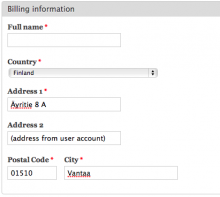 Commerce Extra Address Populate