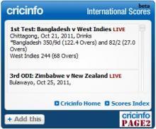 Cricket Widget