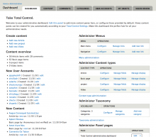 Total Control Administrative Dashboard