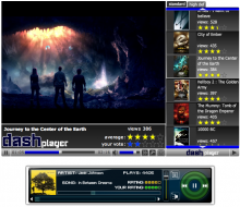 Dash Media Player with Audio Player
