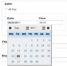 Date Popup module
