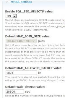 db_tweaks Settings Page