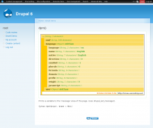 Devel Demo: dpm()