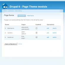 Page Theme module