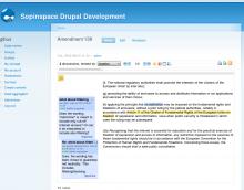 Drupal co-ment module snapshot