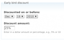 This is a discount module for ubercart which allows for date based