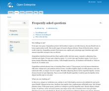 Enterprise FAQ screenshot