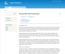 Enterprise FAQ screenshot