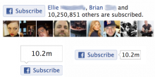 Facebook Subscribe Buttons Style