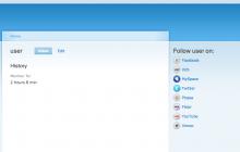 User follow block