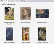 Gallery main page