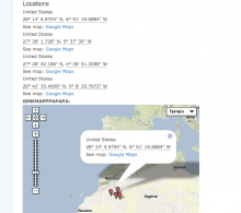 Screenshot of GMap Field showing a map with location.