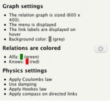 Relation Display field settings