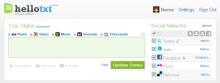 HelloTxt dashboard