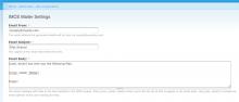 IMCE Mailer Admin Screenshot