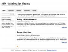 MM Minimalist Theme Screenshot