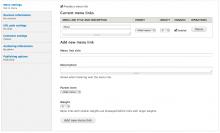 Adding multiple menu links on node editing form