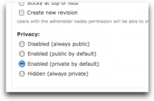 Private module settings